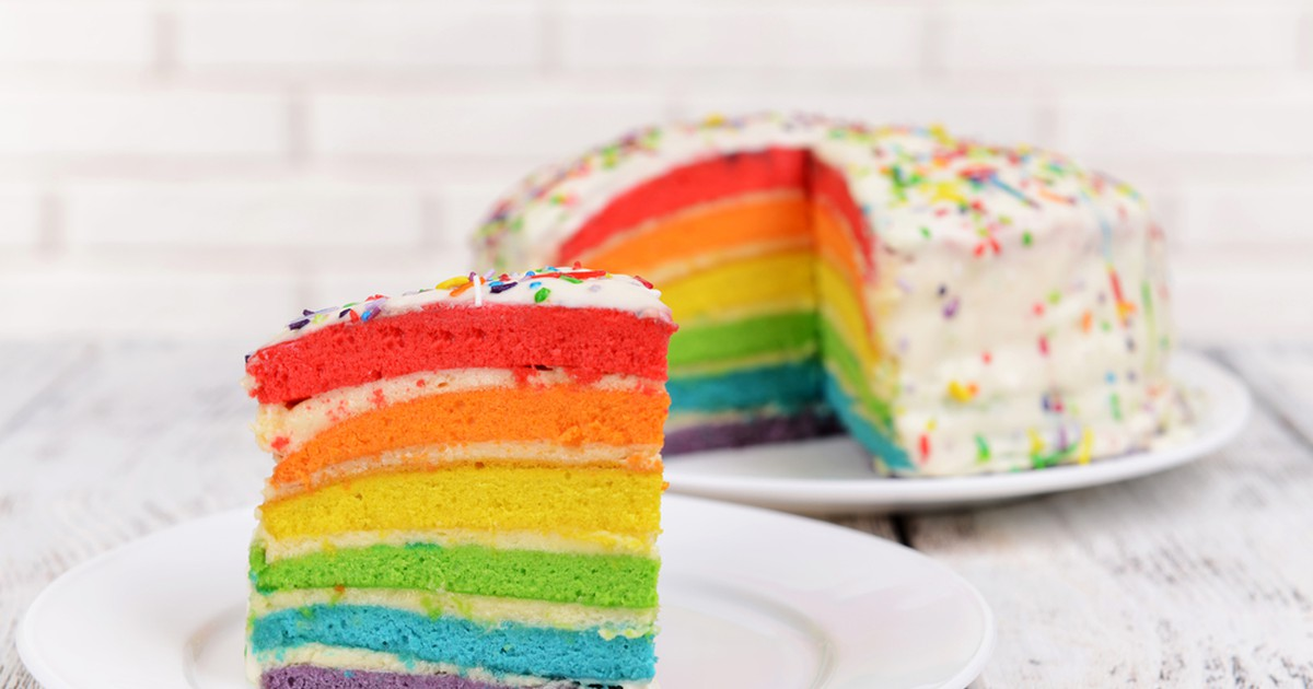 Фото Радужный торт из натуральных ингредиентов