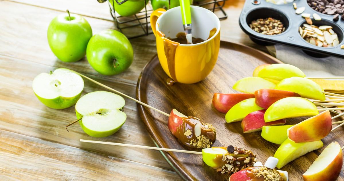 Фото Карамельные яблоки с шоколадом