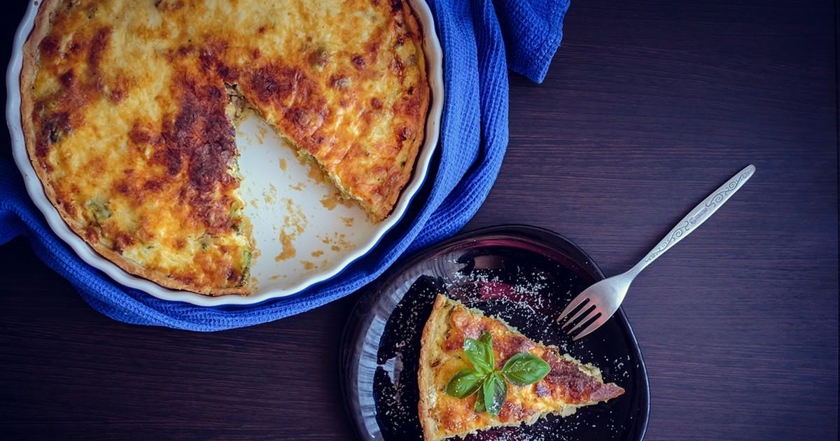 Фото Лоранский пирог с курицей и грибами