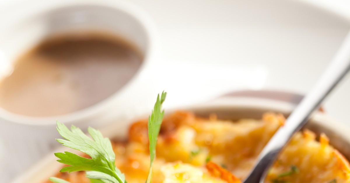 Фото Картофельная запеканка с мясным фаршем и грибами