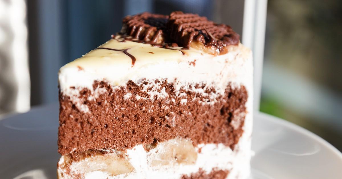 Фото Шоколадно банановый торт