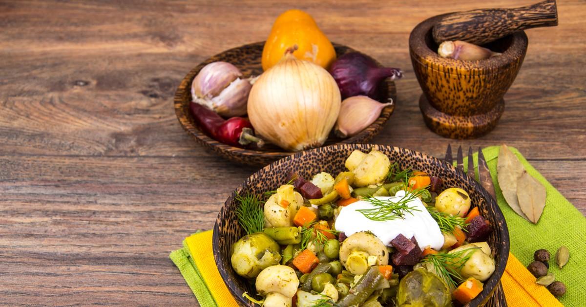 Фото Овощное рагу с грибами