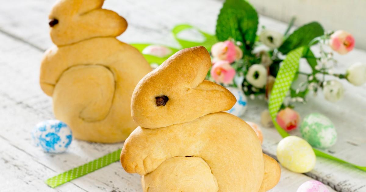 """Фото Пасхальные булочки """"Кролик"""""""