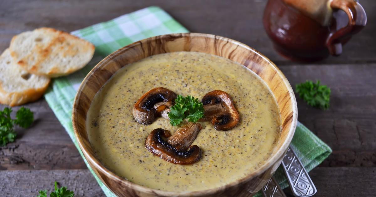 Фото Грибной крем-суп со сливками