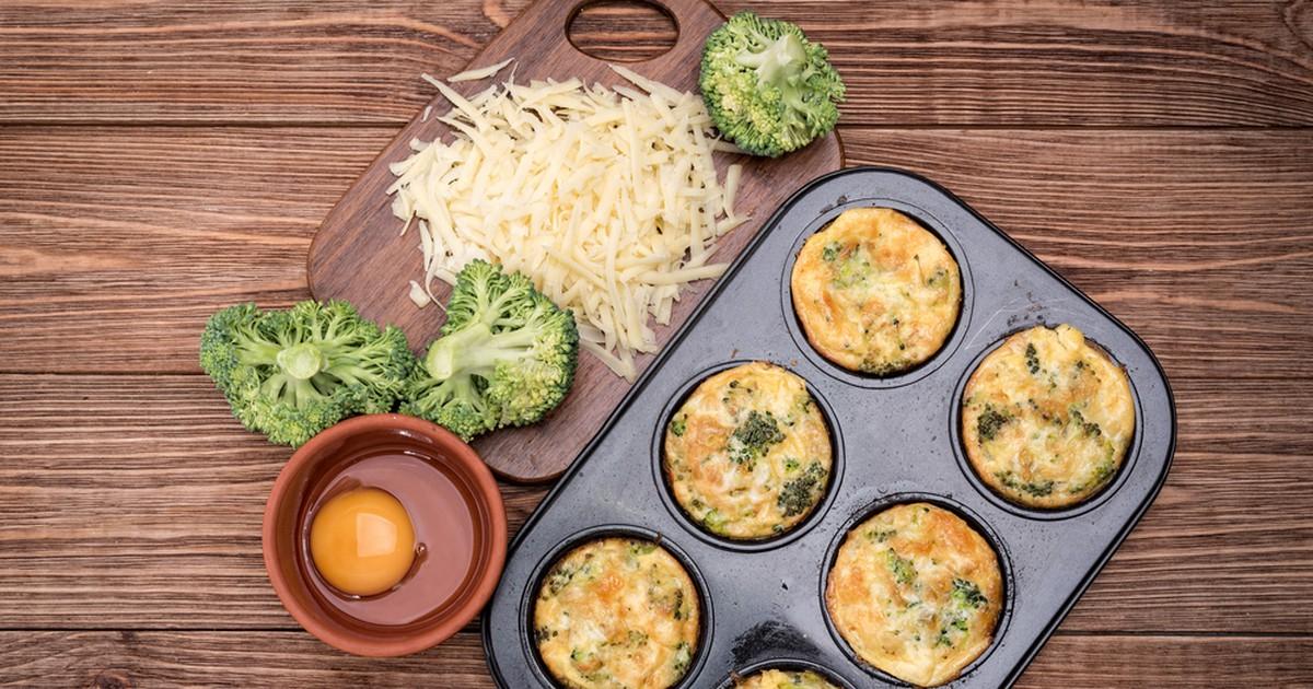 Фото Куриные кексы с брокколи и сыром