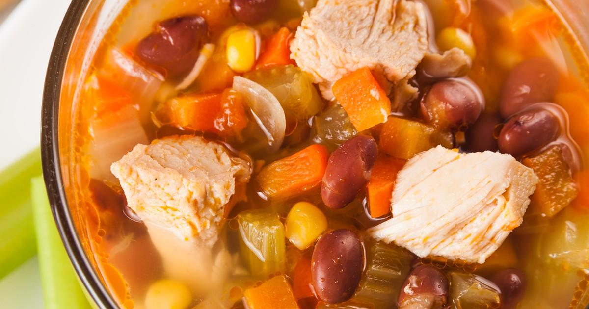 Фото Мексиканский суп с курицей
