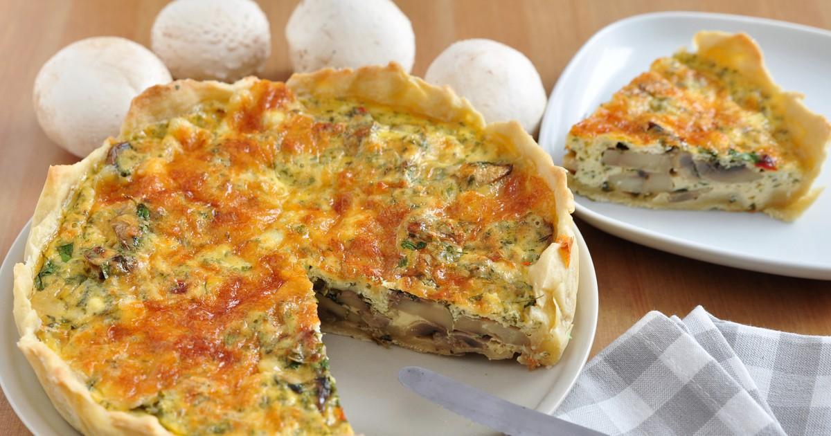 Фото Аппетитный киш с грибами и сыром