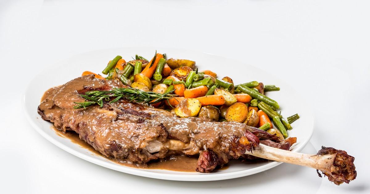 Фото Баранина с фасолью и морковью