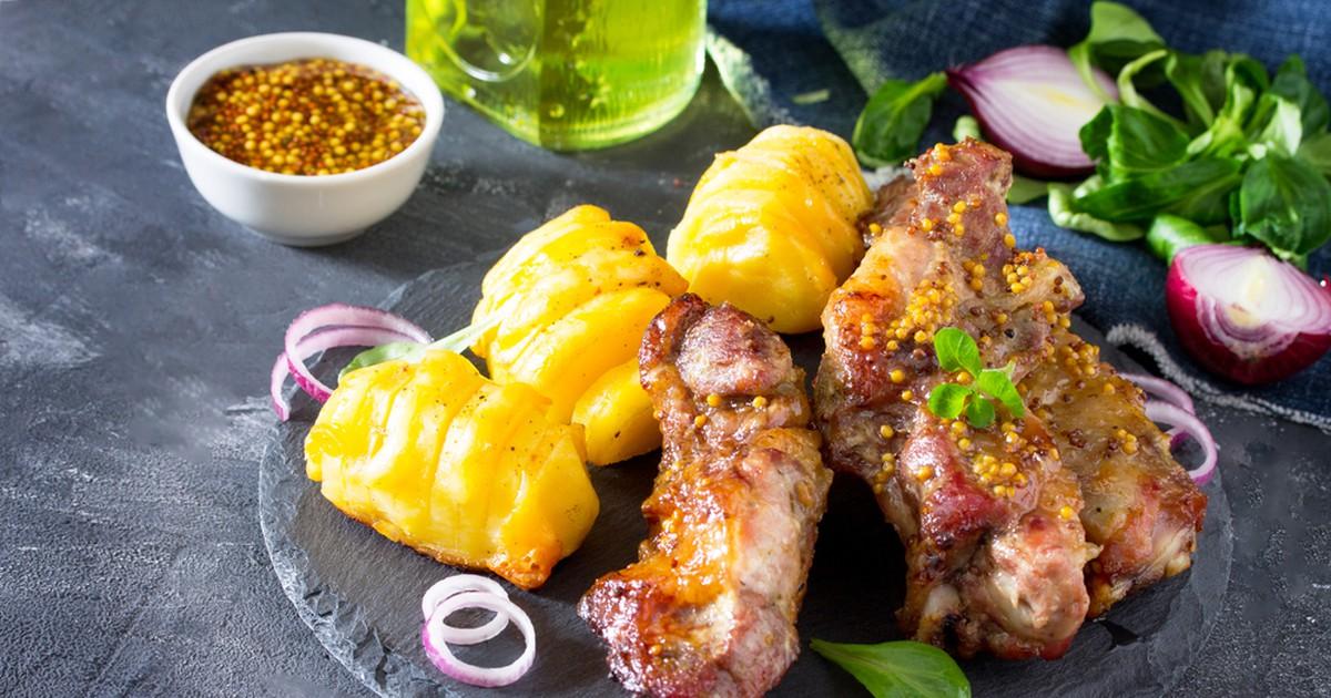 Фото Свиные ребрышки в медово-горчичном маринаде