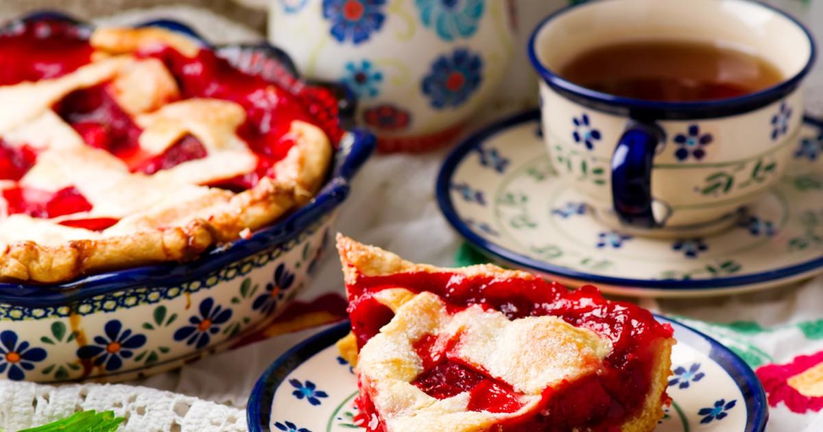 Фото Американский пирог с клубникой