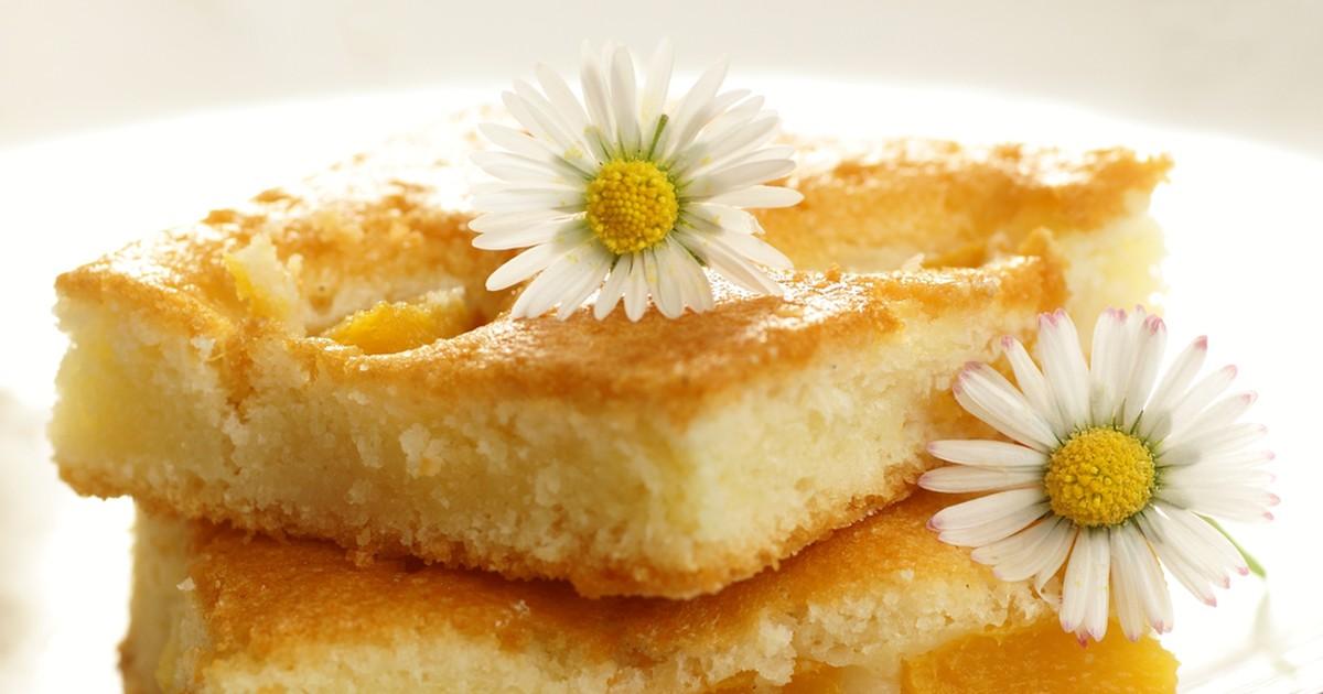 Фото Пирог с персиками на кефире