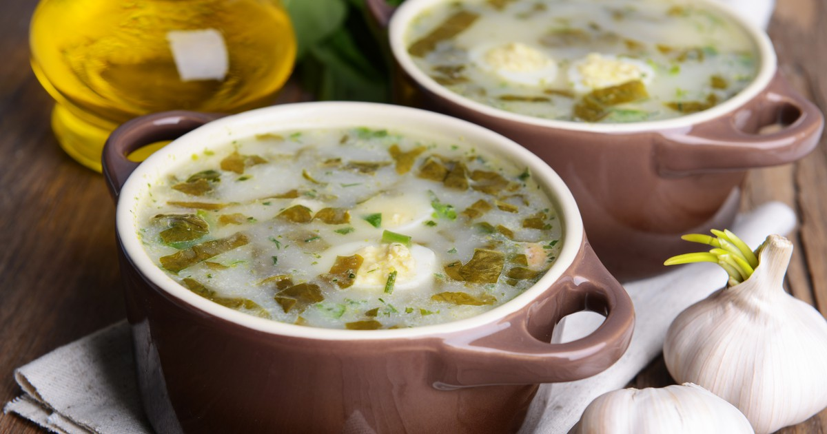 Фото Суп из щавеля со сливками