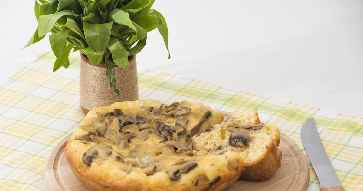 Фото Вкуснейший пирог с грибами
