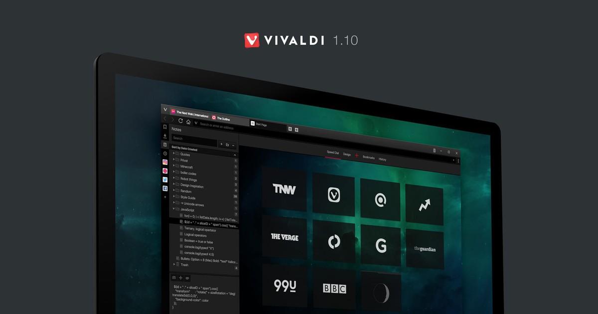 Фото Vivaldi 1.10 — маленькие радости широких возможностей