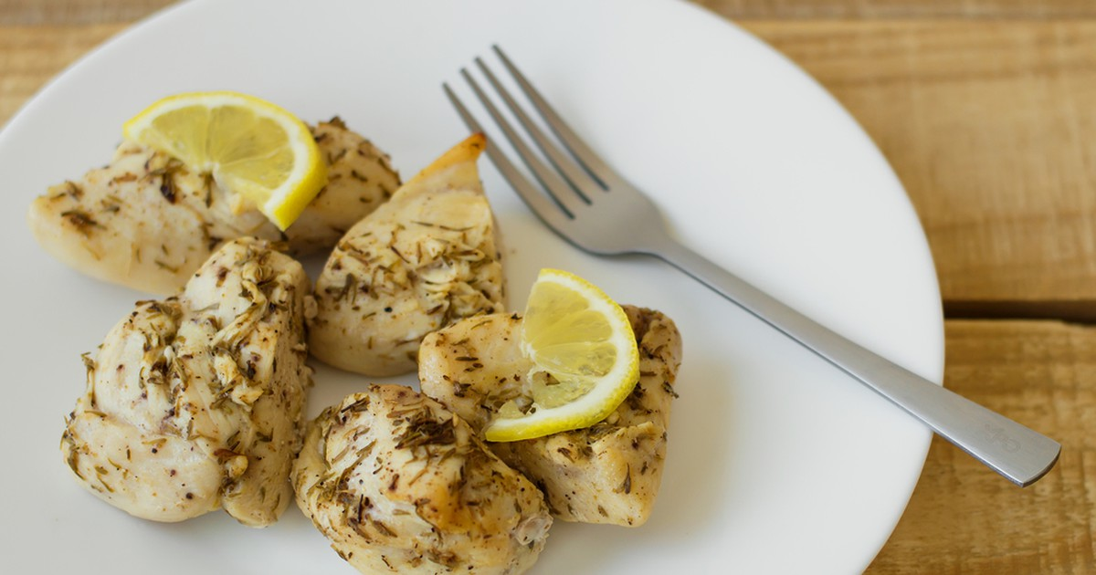 Фото Куриное филе в лимонном маринаде