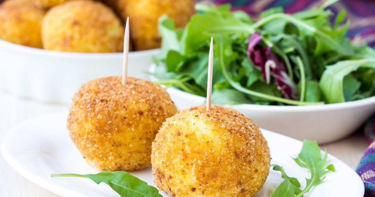 Фото Жаренные сырные шарики с чесноком