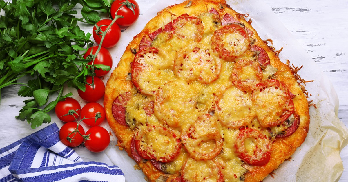 Фото Пицца из картофельного теста