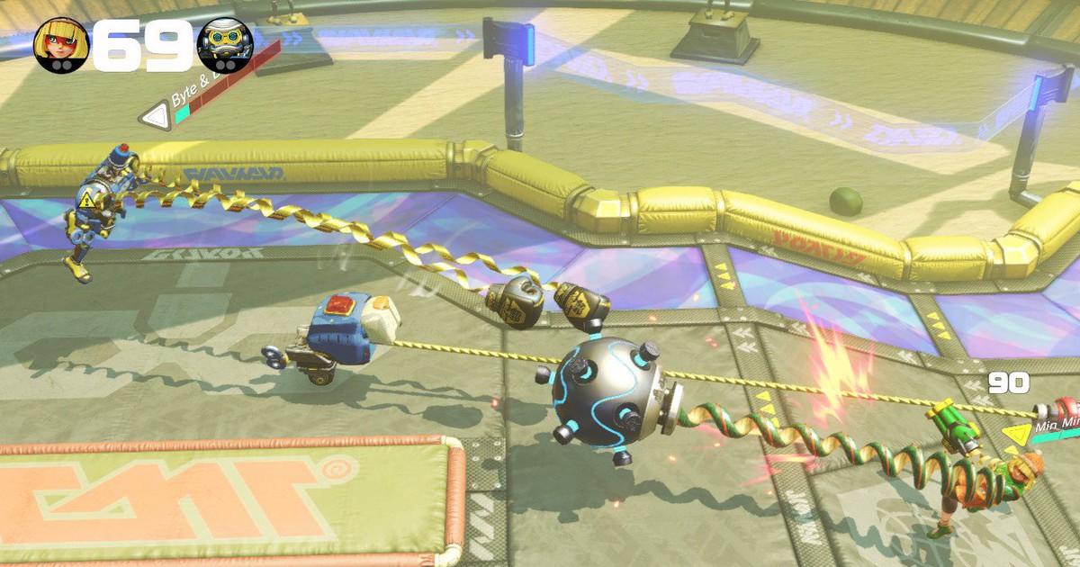 Фото ARMS — необычный бокс для Nintendo Switch