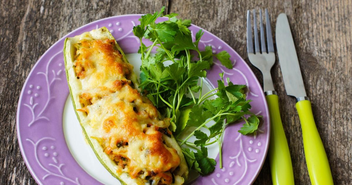 Фото Запеченный кабачок с сыром