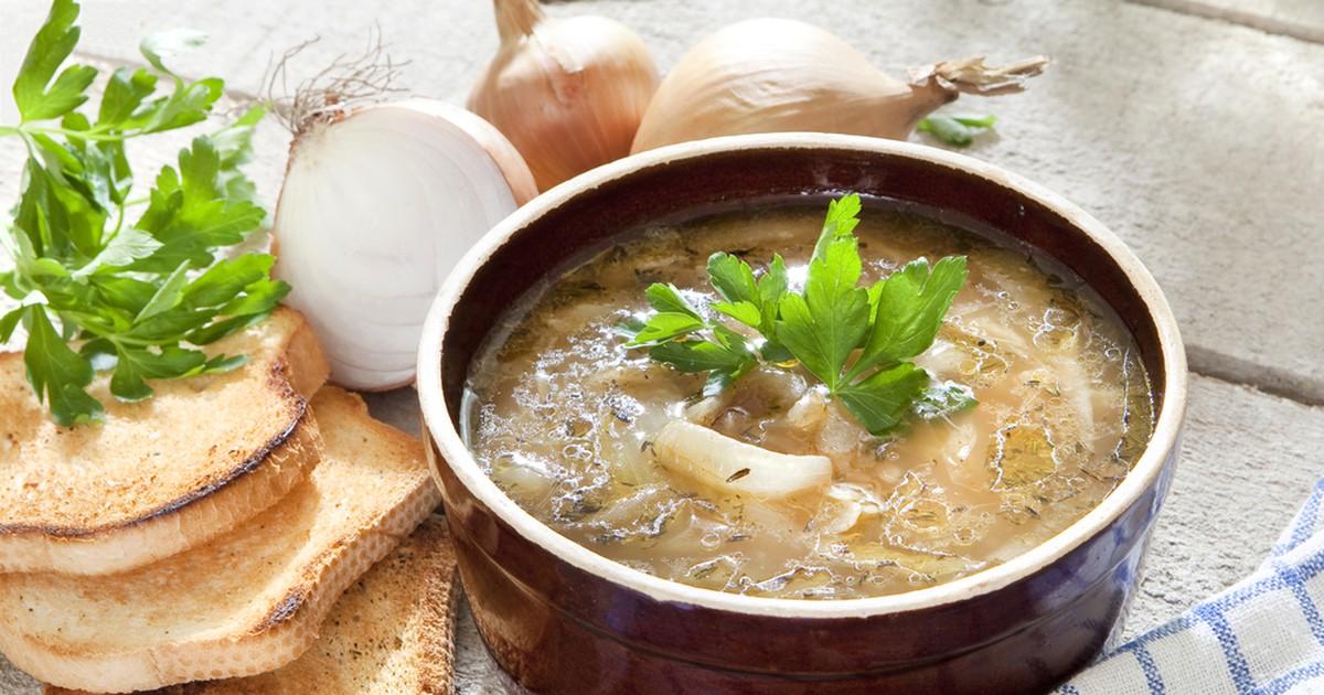 Фото Луковый суп с капустой