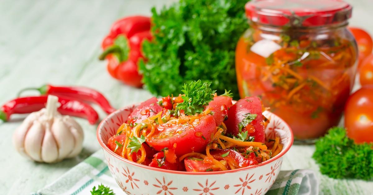 Фото Самые вкусные помидоры по-корейски