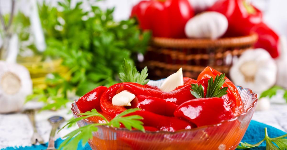 Фото Мгновенно маринованный болгарский перец