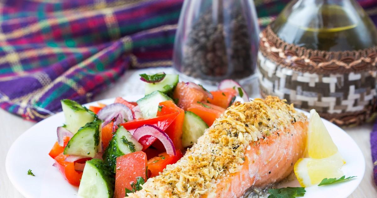Фото Нежнейший лосось, запеченный с сыром