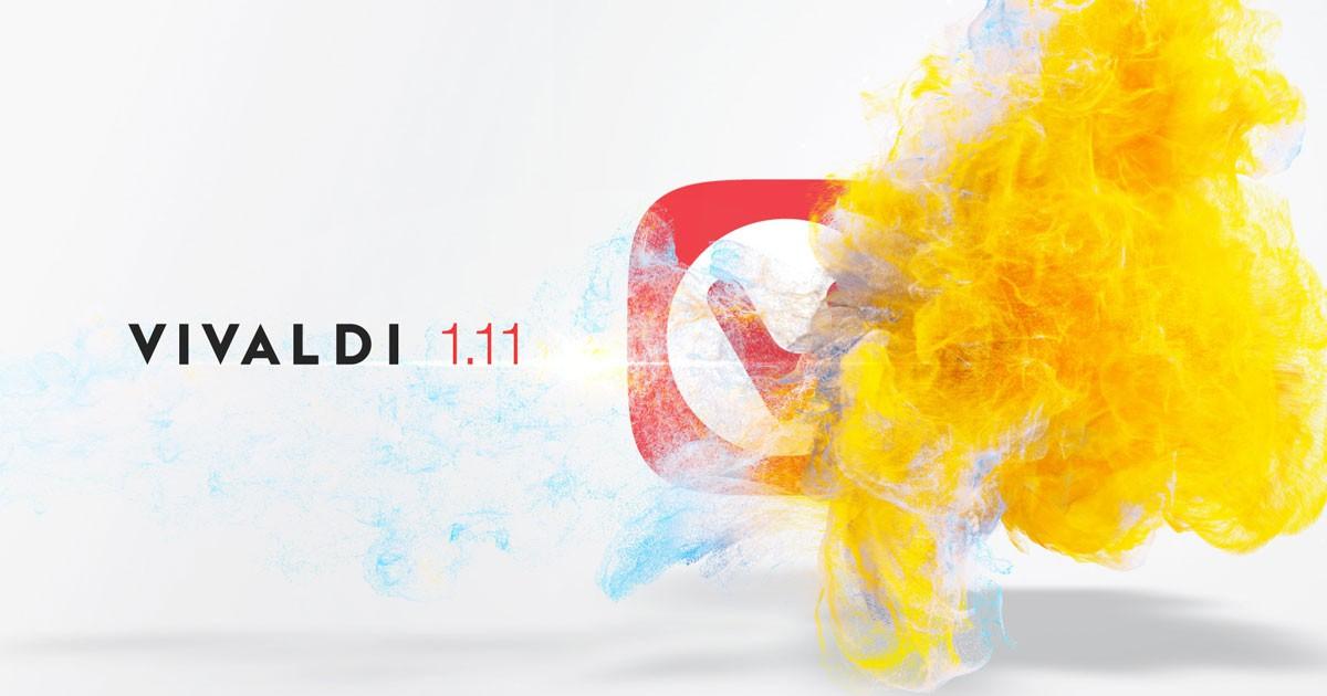 Фото Vivaldi 1.11 — стремление к комфорту