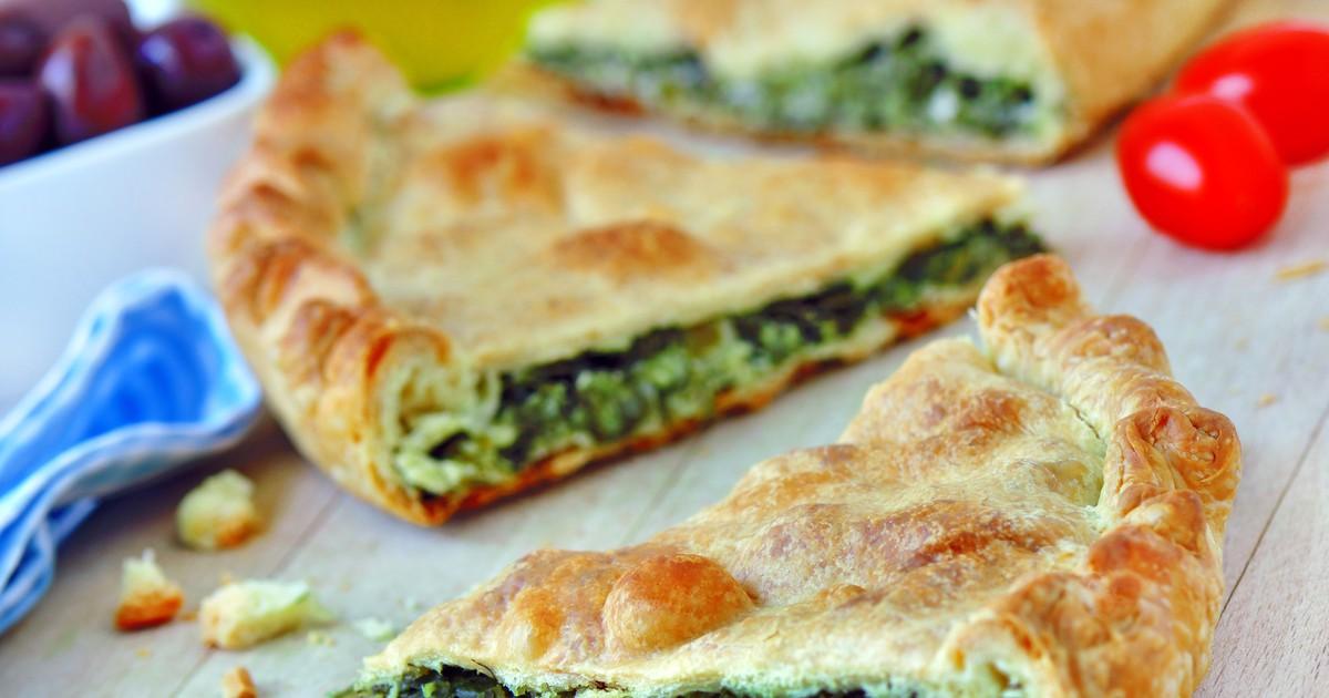 Фото Спанакопита - греческий пирог со шпинатом