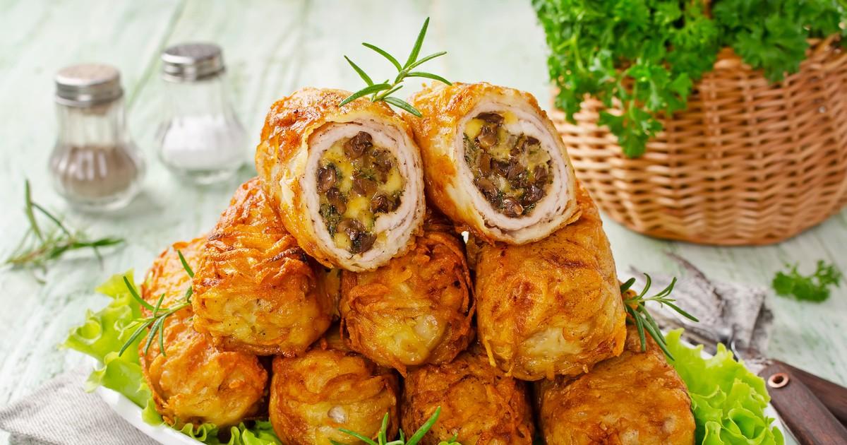 Фото Хрустящие картофельные котлеты с мясом