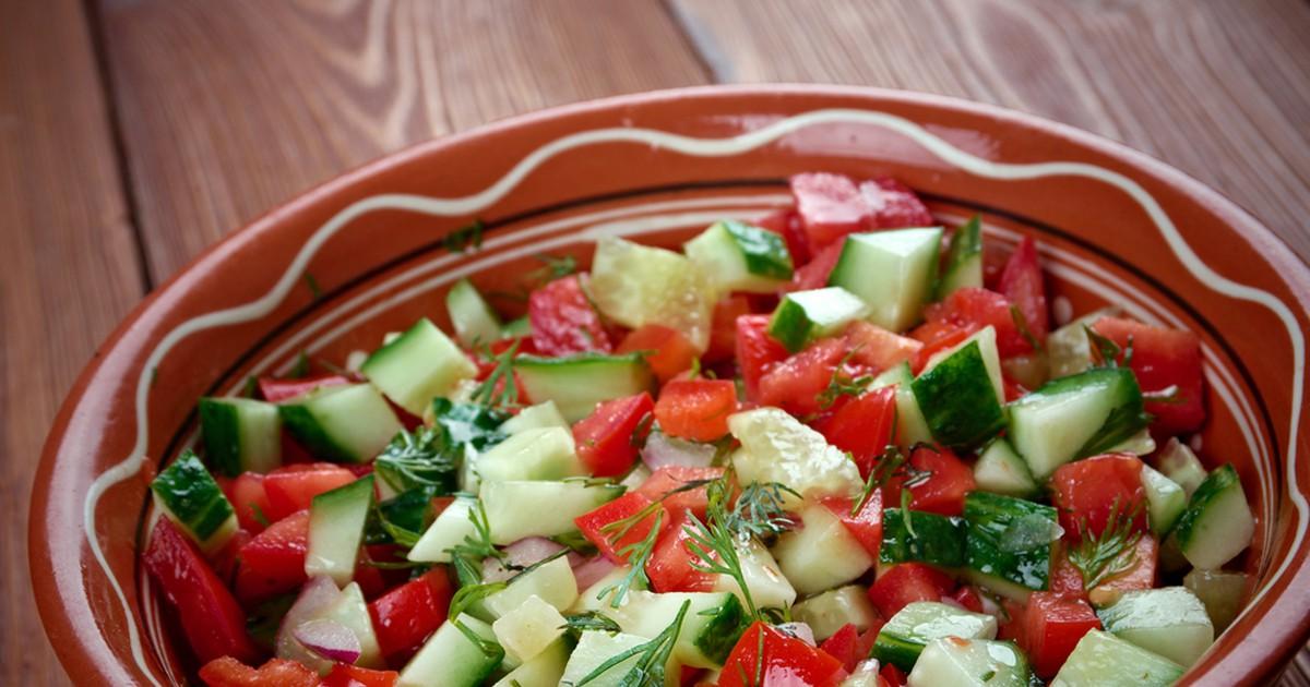 Фото Израильский овощной салат
