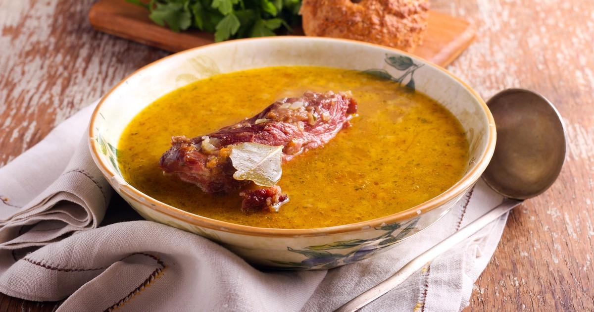Фото Гороховый суп со свиными ребрышками