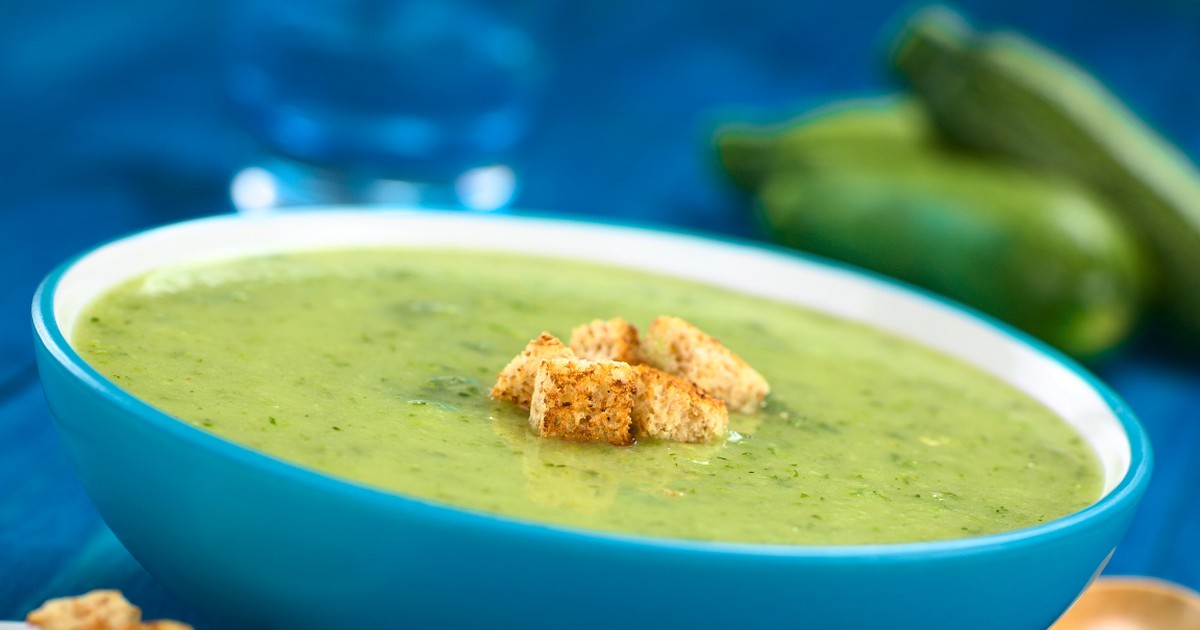 Фото Пряный крем-суп из кабачков