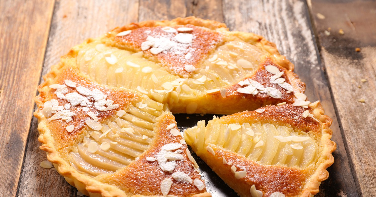 Фото Грушевый пирог с миндалем