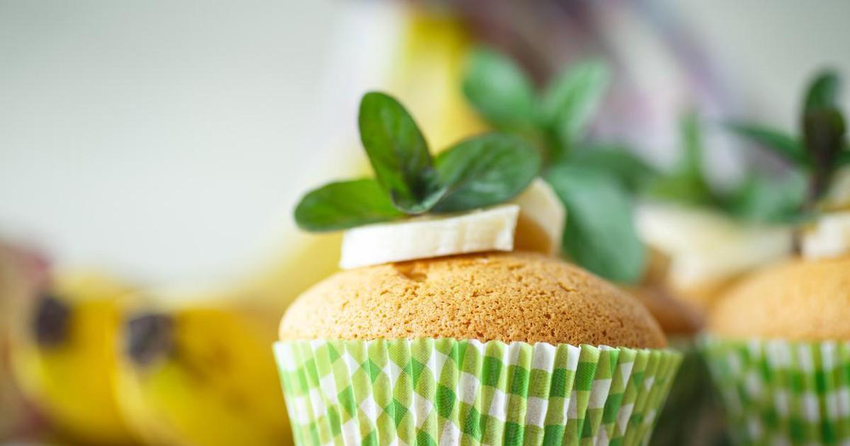 Фото Йогуртовые кексы с бананом