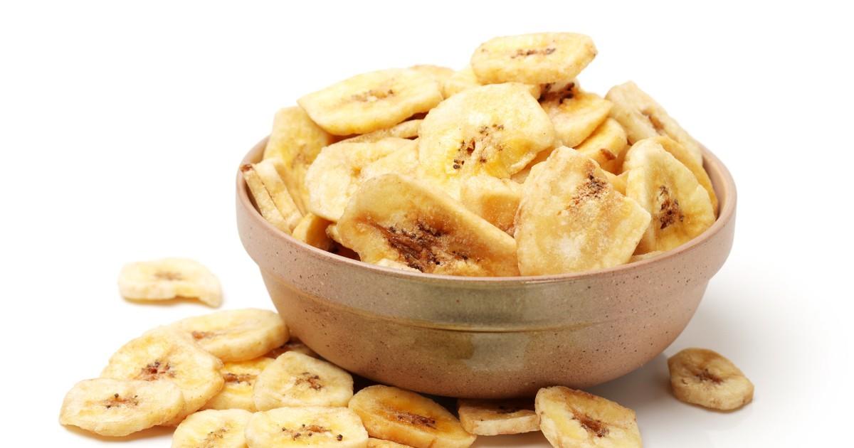 Фото Хрустящие банановые чипсы