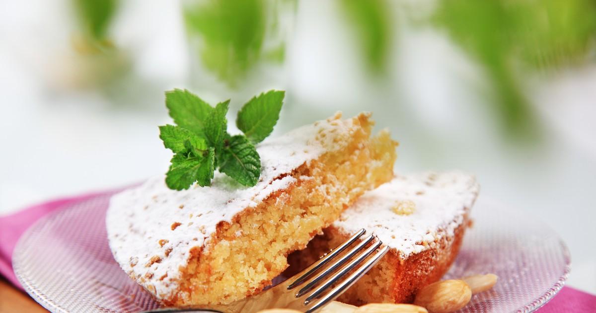 Фото Миндальный пирог без муки