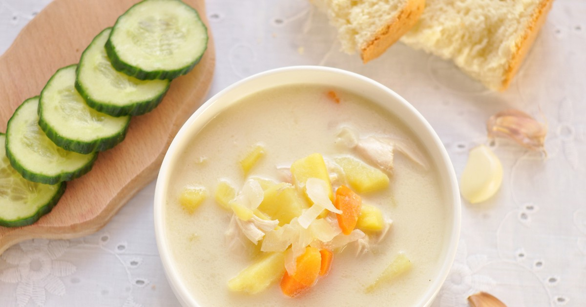 Фото Вкуснейший сырный суп с курицей