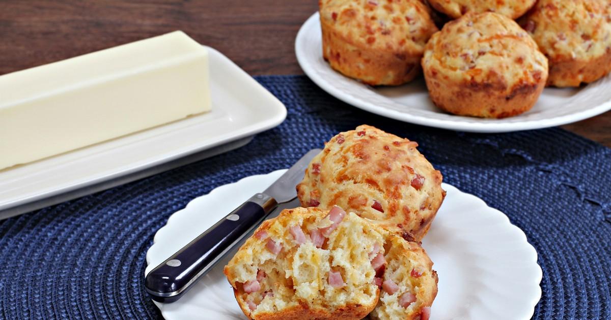 Фото Вкуснейшие закусочные кексы с ветчиной и сыром