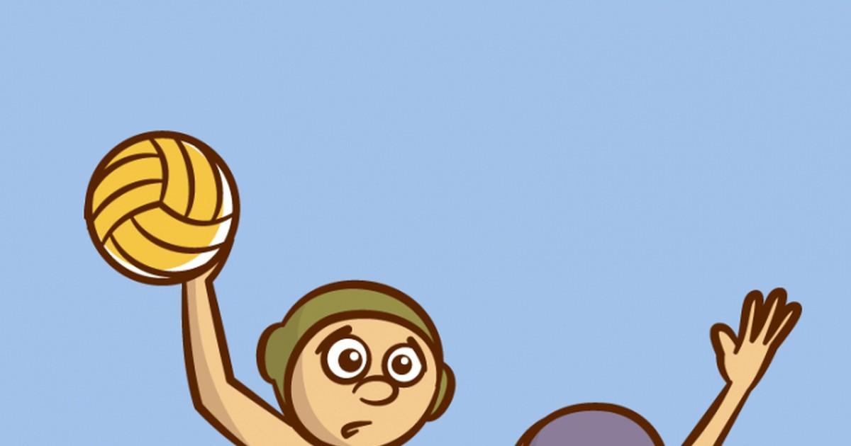 Фото Дружеский матч по водному поло. Капитан одной из команд Смирнов уверенно плывёт вместе с мячом к воротам соперников. Пожилой тренер, наблюдающий за игрой со своего места, вдруг отчаянно кричит:—