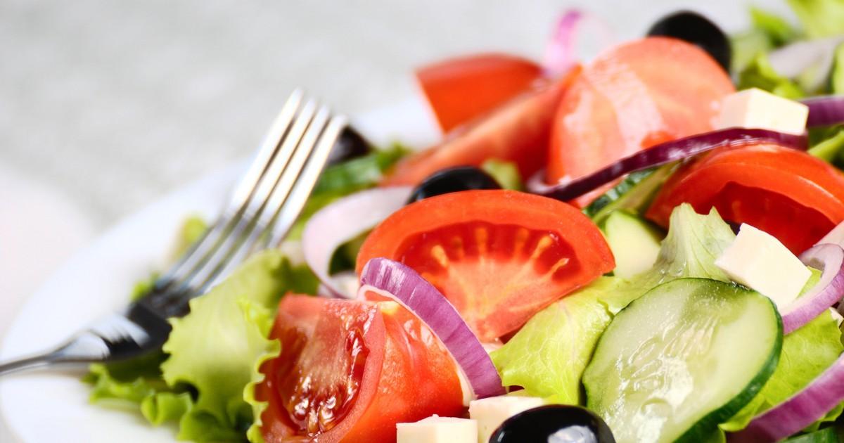 Фото Пикантный греческий салат