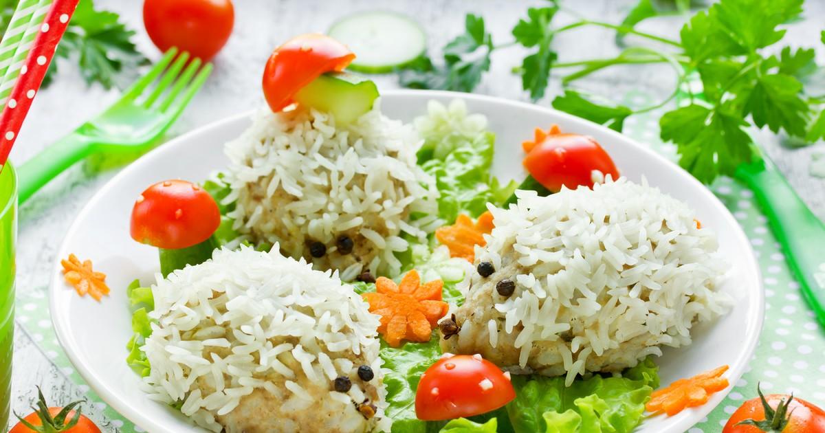 Фото Ёжики с рисом для детей