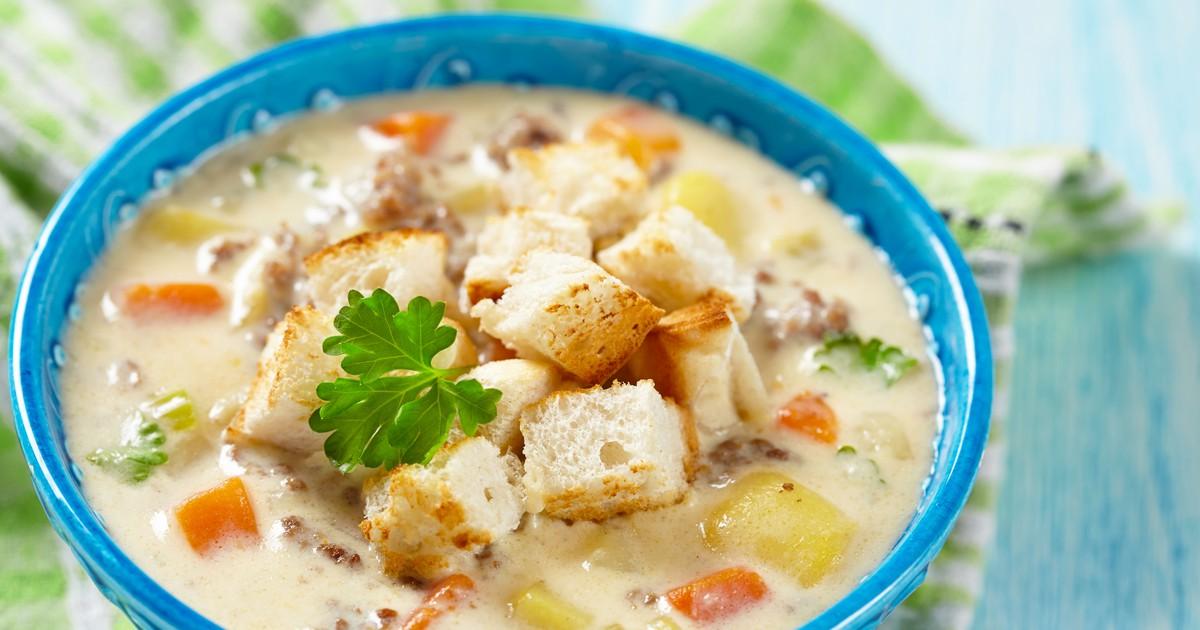 Фото Замечательный сырный суп для любителей оригинальных вкусов.