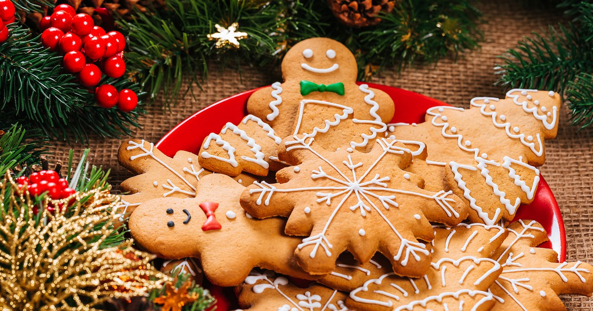 Фото Новогоднее имбирное печенье