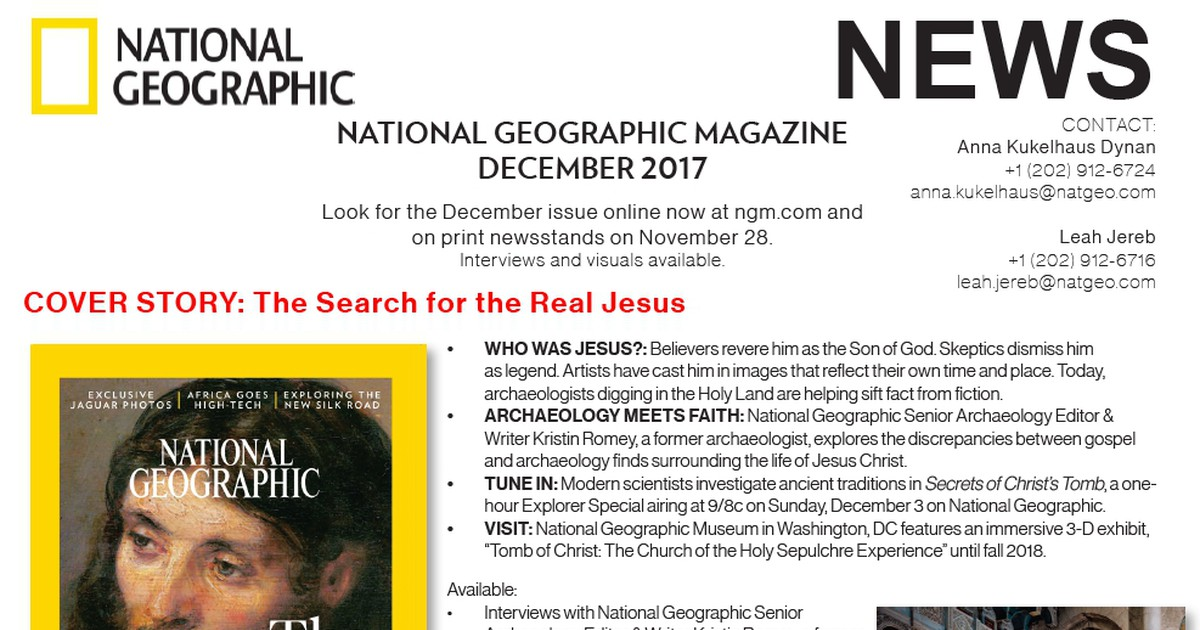 Photo of National Geographic Magazine, December 2017