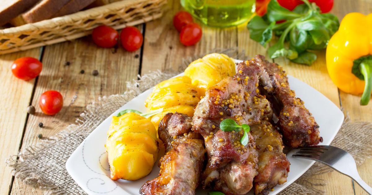 Фото Свиные рёбрышки с французской горчицей