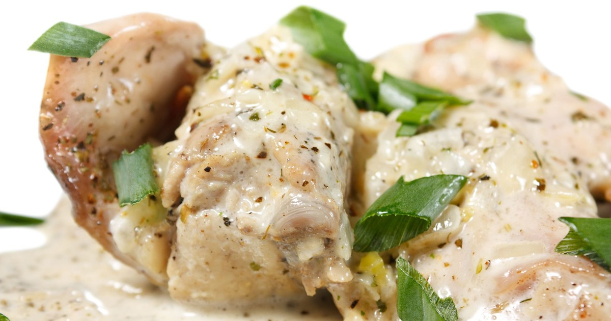 Фото Нежная курица в молочном соусе по мотивам узбекской кухни.