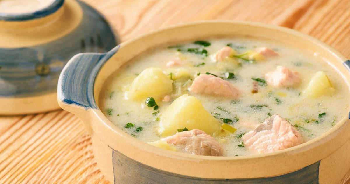 Фото Нежнейший сырный рыбный суп