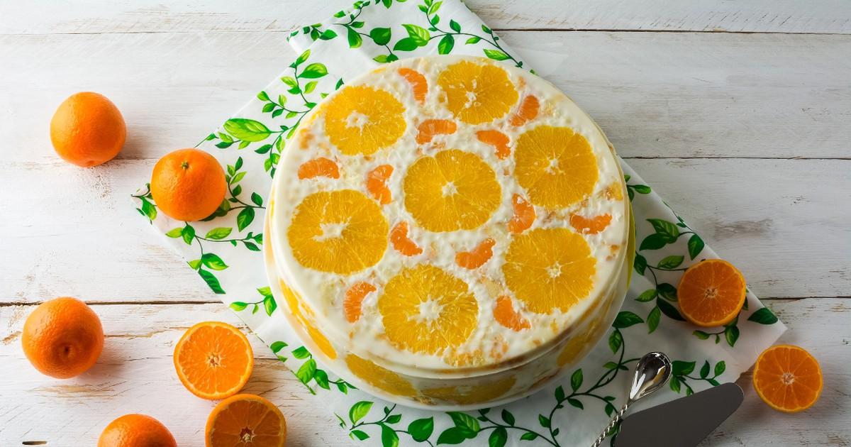 Фото Праздничный желейный торт