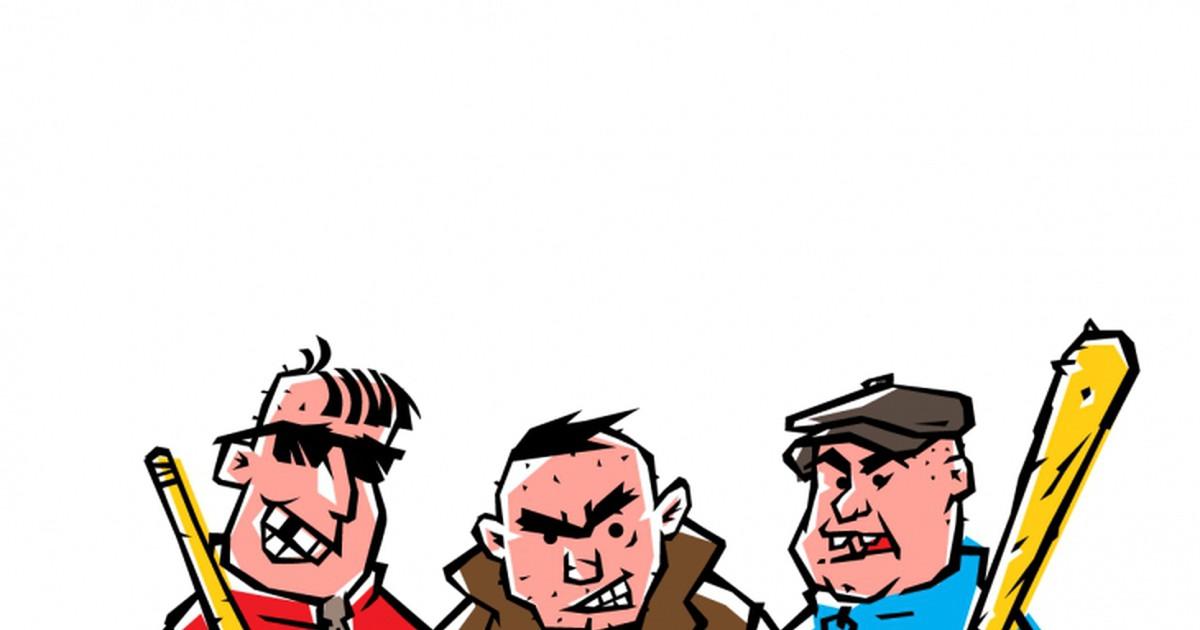 Фото Выходит подвыпивший мужчина ночью из бара, к нему тут же подходят трое здоровенных парней. Один грозно говорит:— А ну-ка гони все свои деньги!— Да без проблем, ребята.С этими словами мужчина запускает